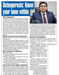 Coverage Dr. Karthik Subramanian