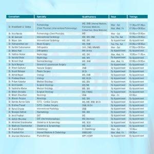 Horizon - Leaflet - OPD Schedule