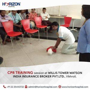 CPR Training Session at Willis Tower Watson India Insurance Broker Pvt.ltd Vikhroli